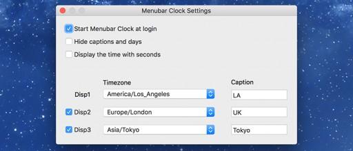Menubar Clock Settings